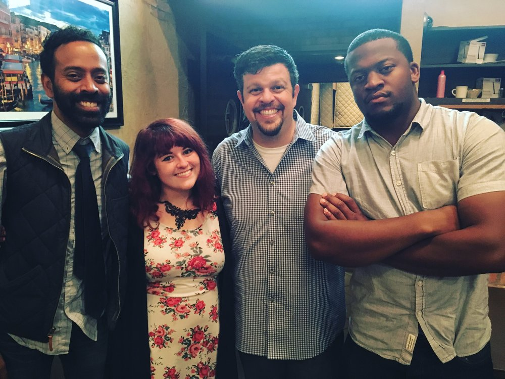 Arlington Improv with (from left to Wright) Paul Varghese, MONNA, Aaron Aryanpur and LaRon Wright