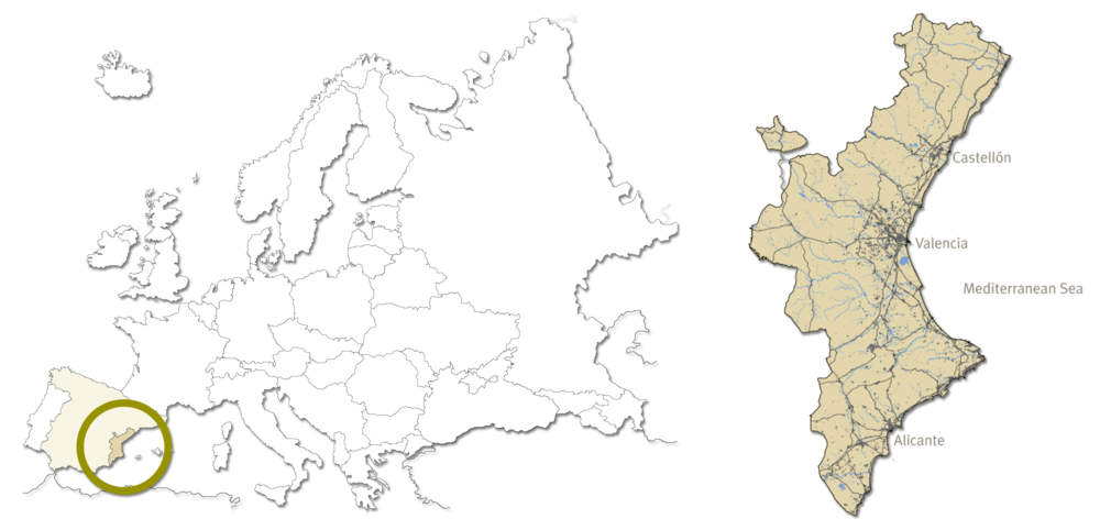 Europe and the Autonomous Region of Valencia in Spain.