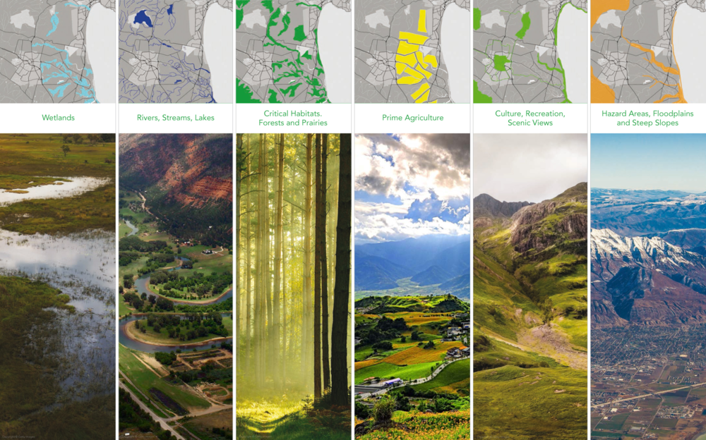 Place in one map the most valuable landscapes. By Arancha Muñoz/ESRI.