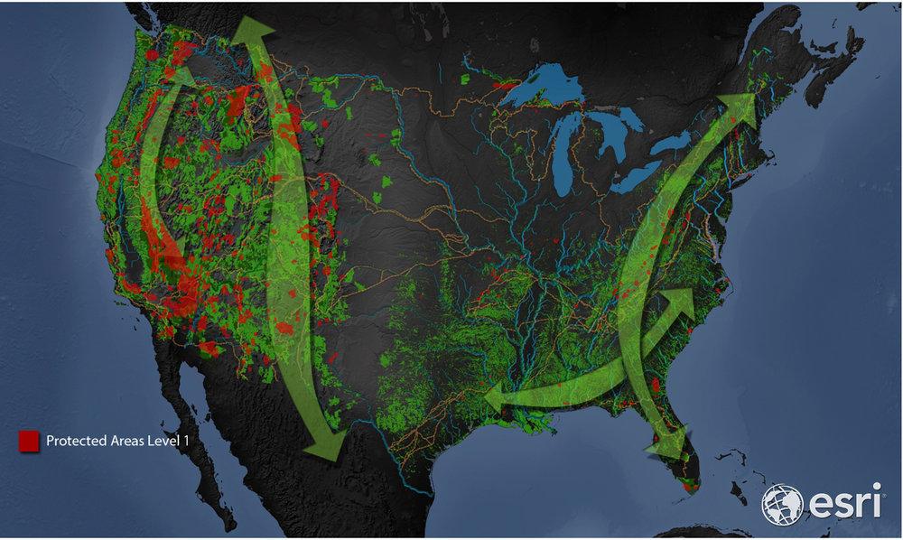 Map of Intact Habitat Cores