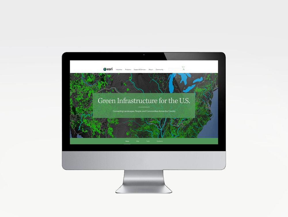 Green Infrastructure Website by ESRI