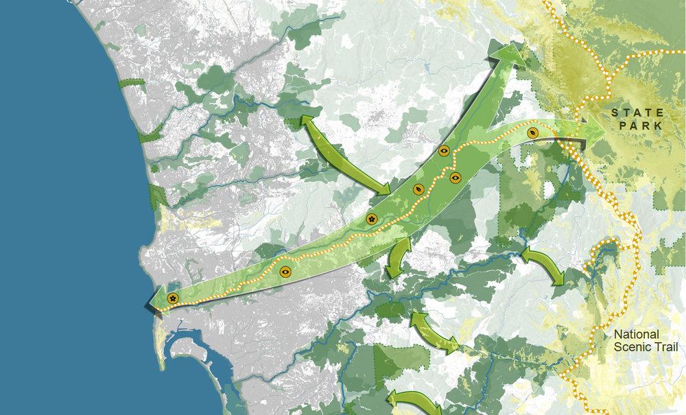 ...by river corridors such as metropolitan parks.