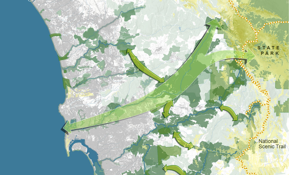 If we don't design green infrastructure first, we will loose those areas and connections for ever.