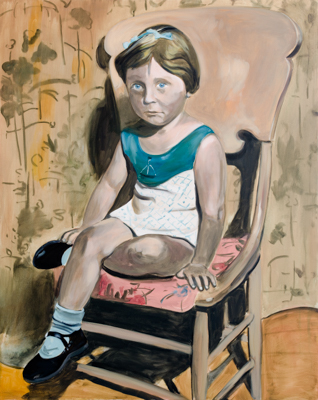 Baby Blue, 150 x 120 cm, acrylic and oil on canvas, 2012