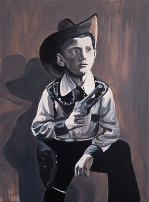 Billy the kid, 135 x 100 cm, acrylic and oil on canvas, 2011