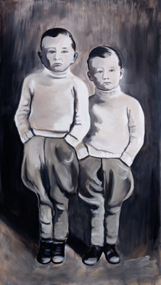 Two souls, one mind, 150 x 85 cm, acrylic and oil, 2012.jpg