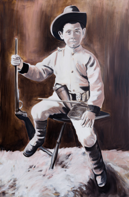 Young bounty hunter, 135 x 105 cm, acrylic and oil, 2011