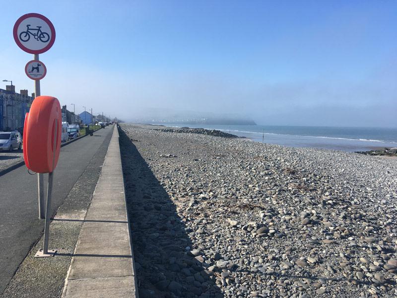 Borth seafront