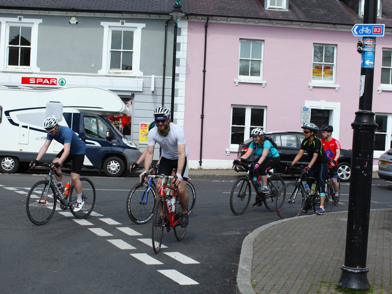 Setting off after lunch in Tregaron