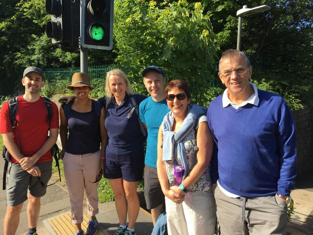 Speakeasy supporters setting off from Pentre Bach train station