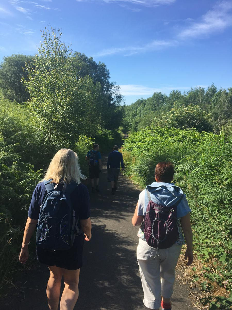 Speakeasy supporters walking the Taff Trail
