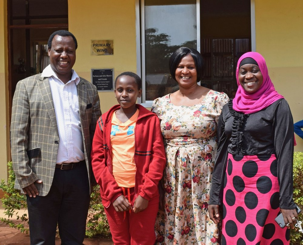 Mr. Bayo, founder and Board memeber, Given, Madame Grace, Head of School, Madame Fatuma, assistant head of school