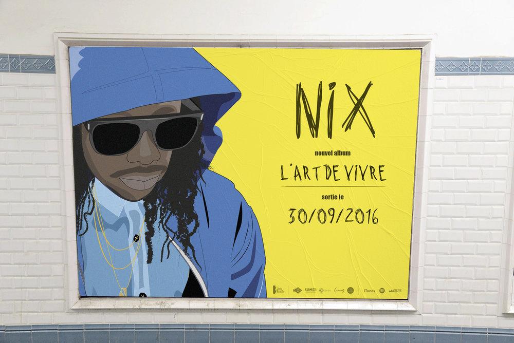 Affichage métro parisien.