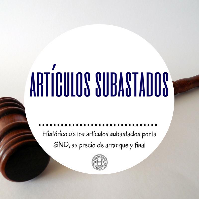 Articulos Subastados. Sociedad Numismática Dominicana. SND