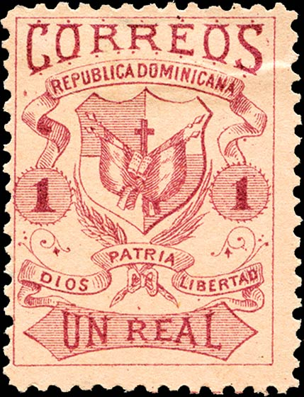 Un Real 1879. Repubica Dominicana. Hamilton Bank Note Co.