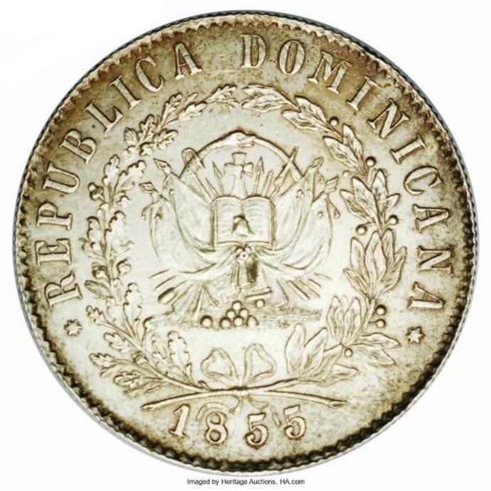 Patrón de diez reales 1855. Republica Dominicana