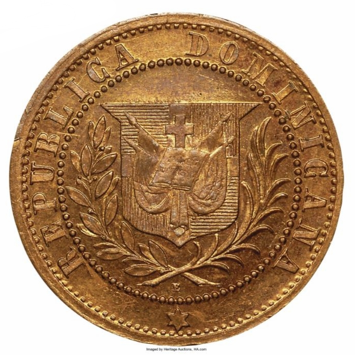 Patron de moneda 1 CENTAVO 1878. República Dominicana