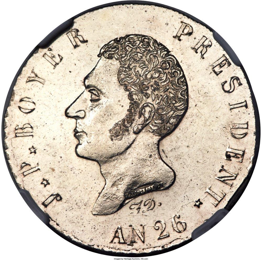 Haiti. 100 centimos 1829