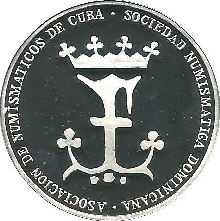 Medalla conmemorativa. Exposición Numismática Cubana 1992. SND