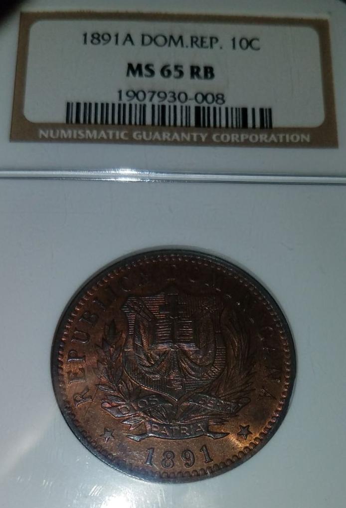 10 Centimos de franco 1891