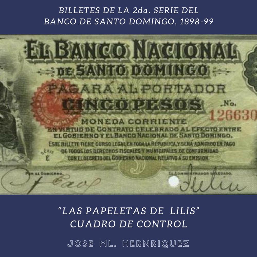 Las papeletas de lilis. Cuadro Control. Banco De Santo Domingo