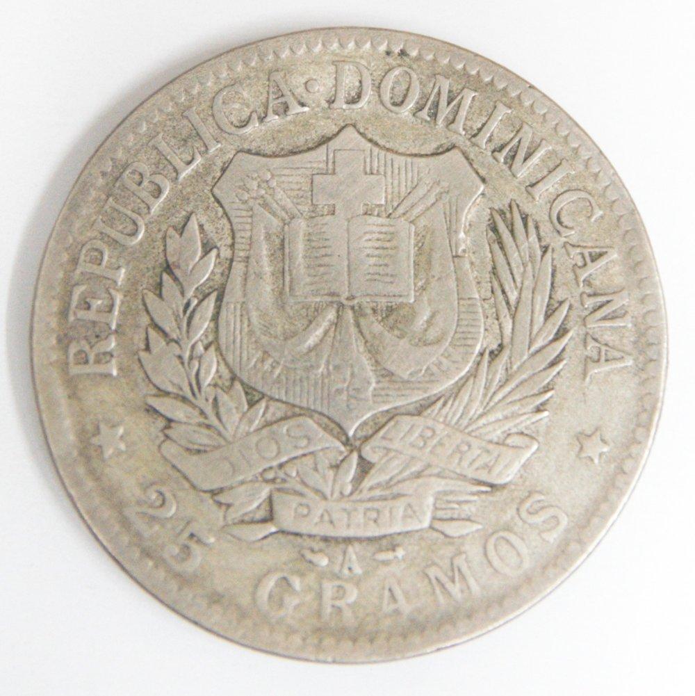 Moneda dominicana con foto Marine