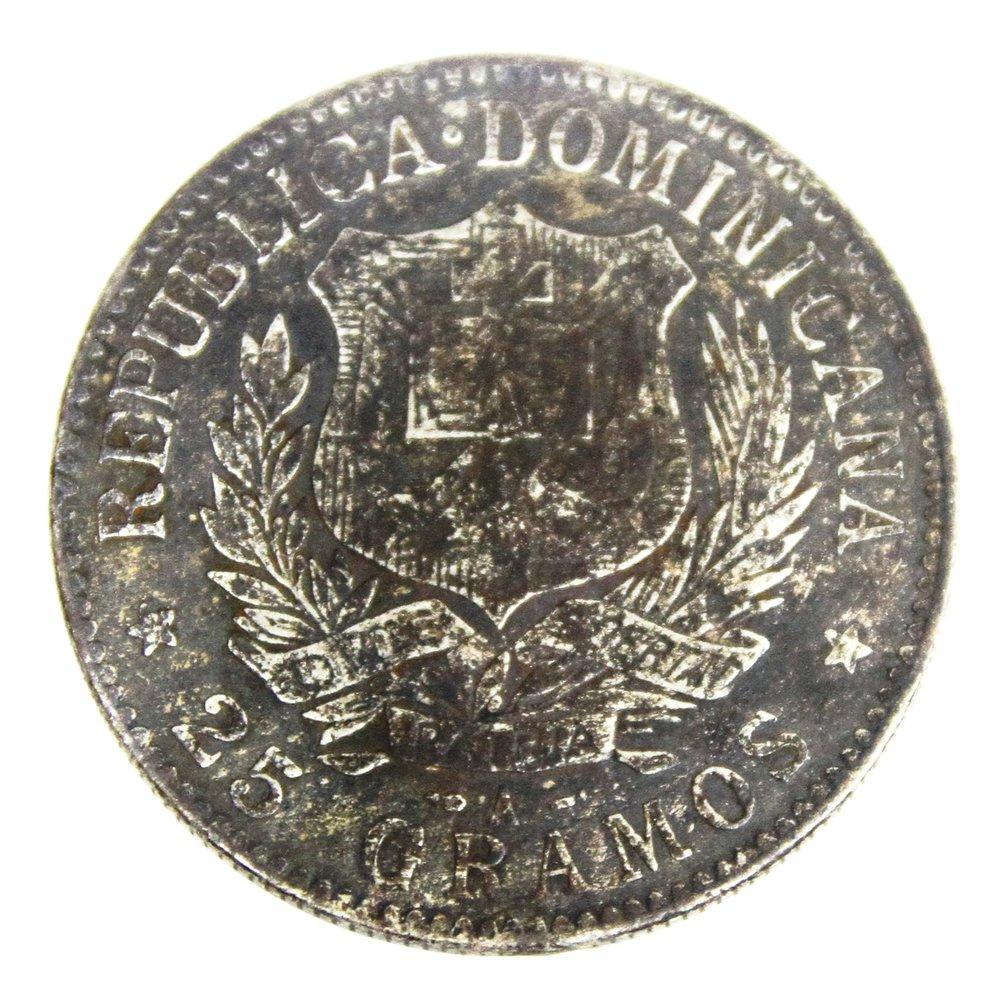 moneda dominicana contramarcada Rafael L. Trujillo