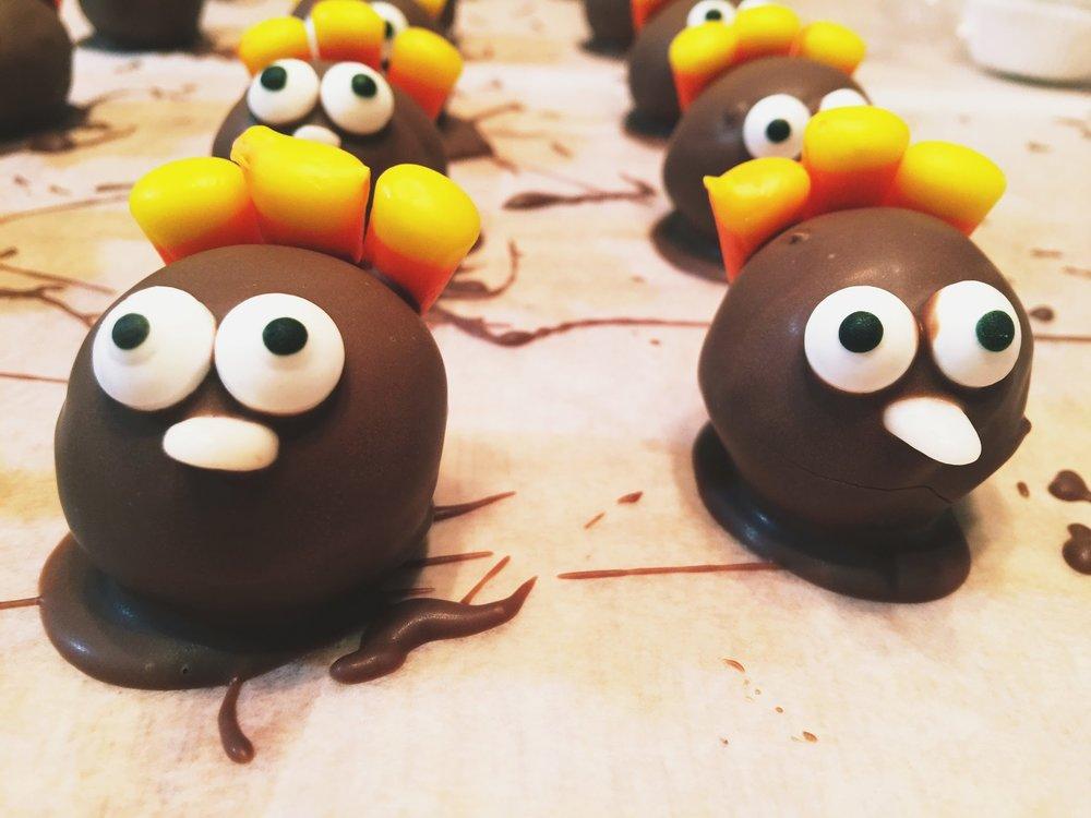 turkey cake balls