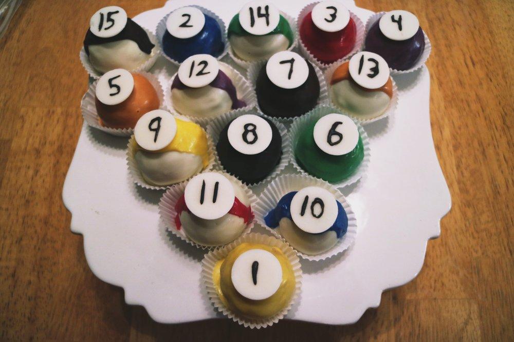 Mason Ohio Pool Table Cake Balls