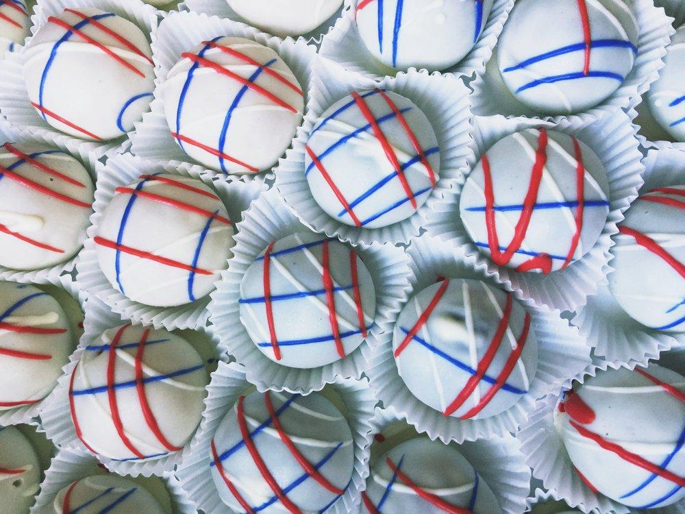 Memorial Day Cake Balls Cincinnati