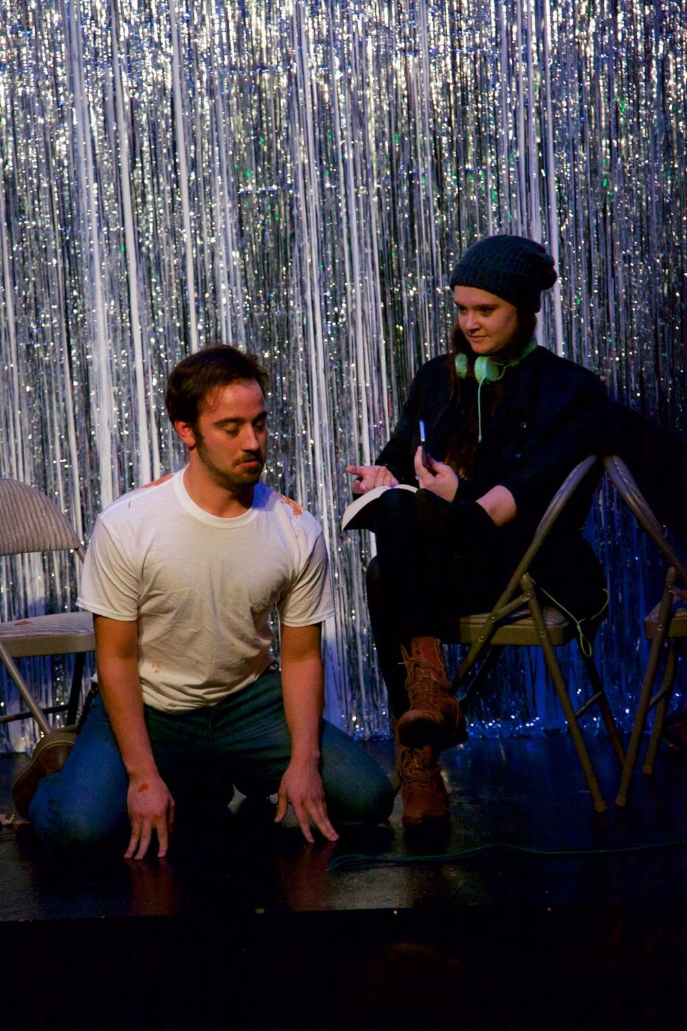 """Still From Patrick's original written and performed play """"Mourning Commute""""   Link to event"""