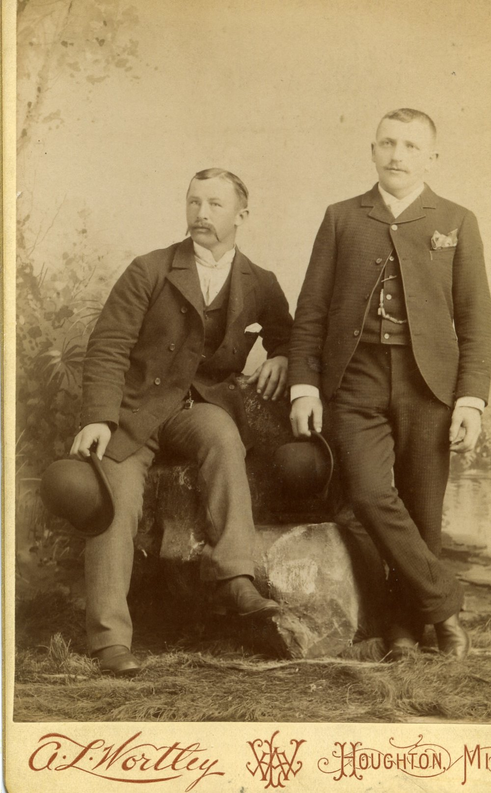 Peter Heinrich Ratz (1867-1934) on right with unidentified man on the left