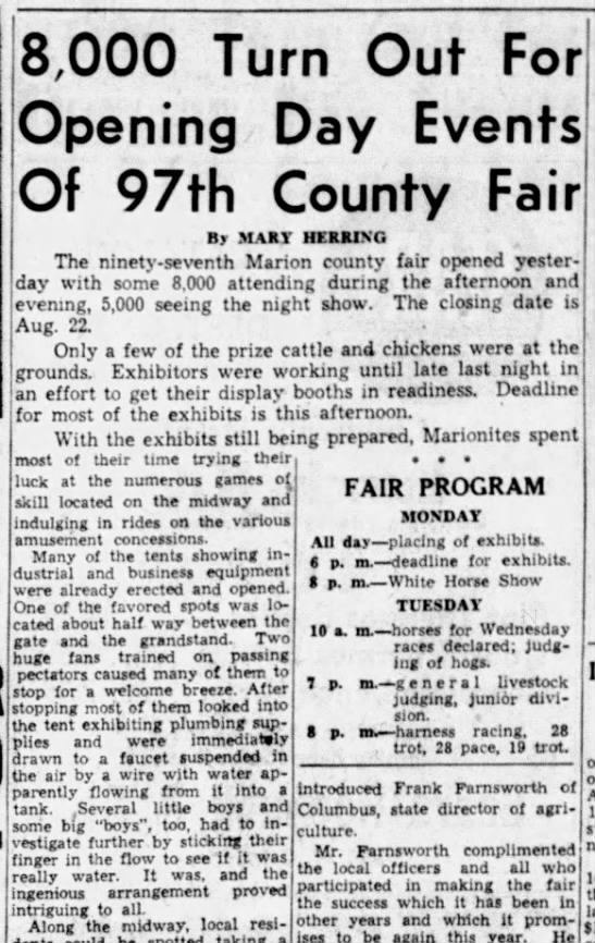 The Marion Star - Front Page - August 18, 1947
