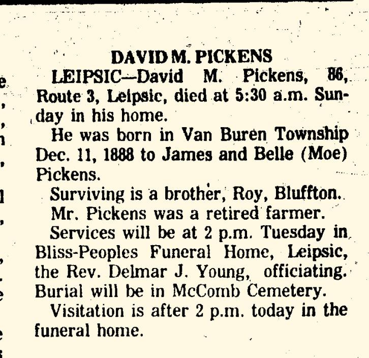 David M. Pickens (1888-1975)