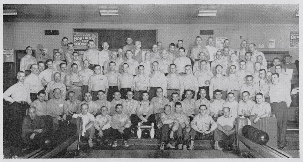 "Photo labeled: ""Guardian Angels Bowling Team at Denby Lanes, Detroit""  source:   Find a Grave, Thomas LaFaive"