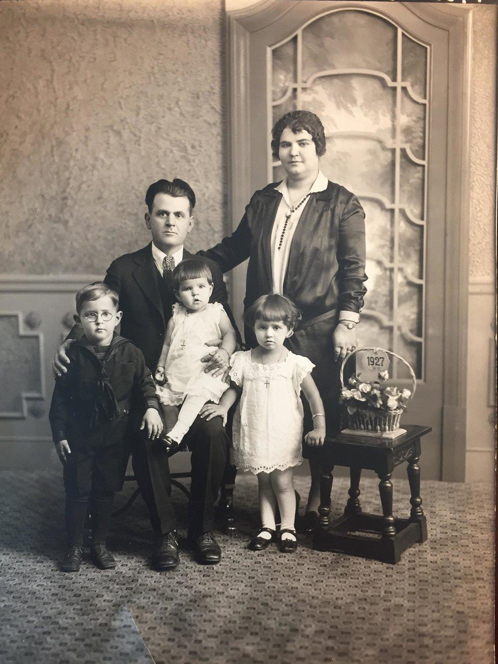 "Gregorio ""Greg"" Elissaviti,his wife Theodora, and their children"