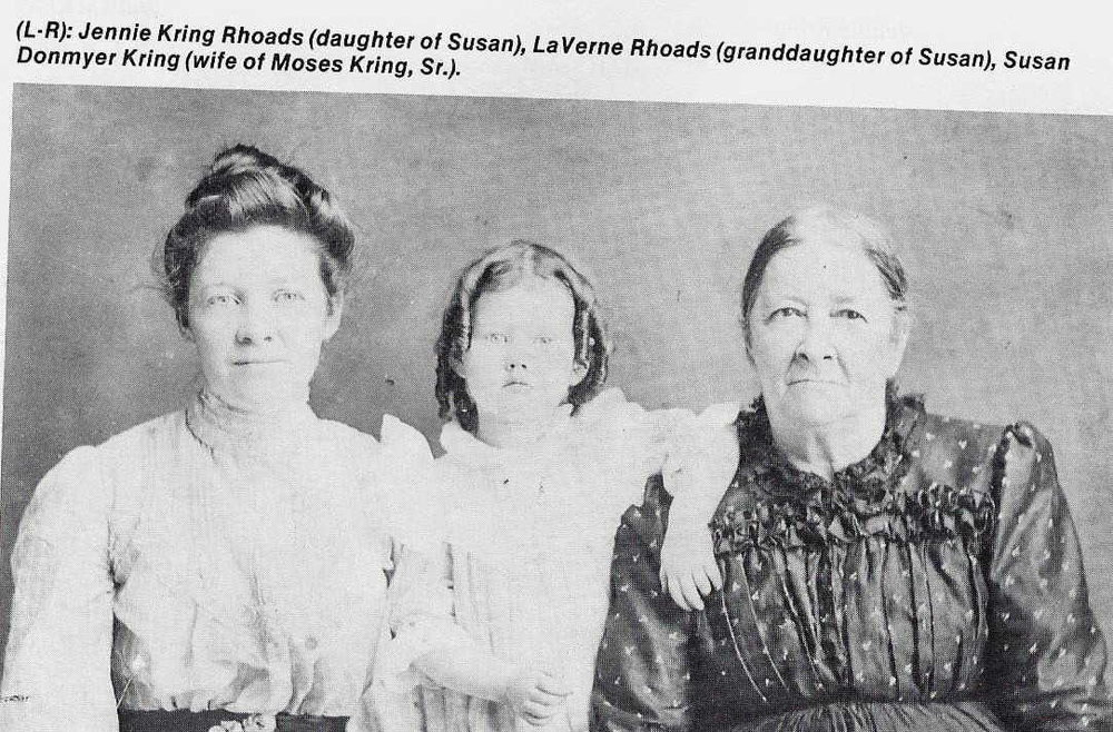 Laverne with her mother and grandmother