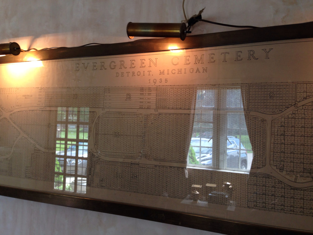 Evergreen Cemetery office (Detroit, MI).