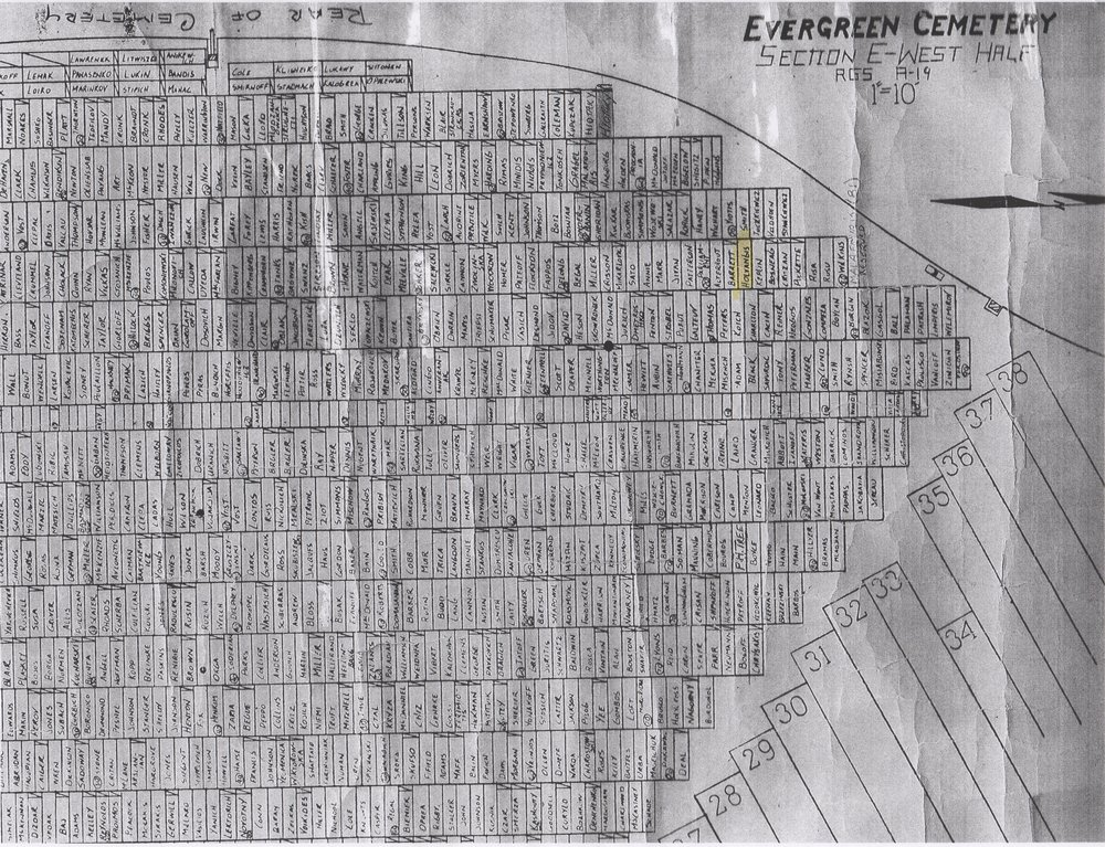 Section E of Evergreen Cemetery (Detroit, MI)