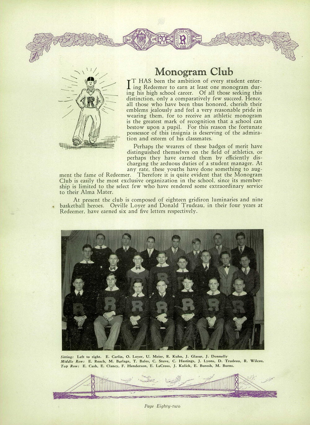 1930 Holy Redeemer High School Yearbook