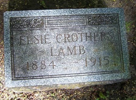 Elsie Crothers Lamb (1884-1914)    Photo courtesy of:    Reena Parkey King