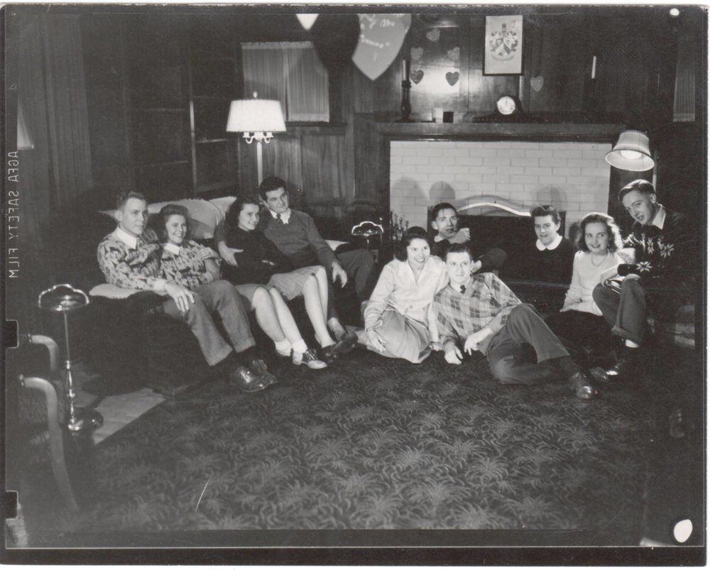 """Taken after skating party at fraternity house"""