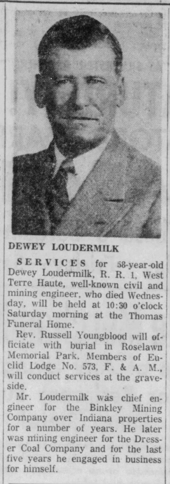 Dewey Loudermilk (1898-1957)
