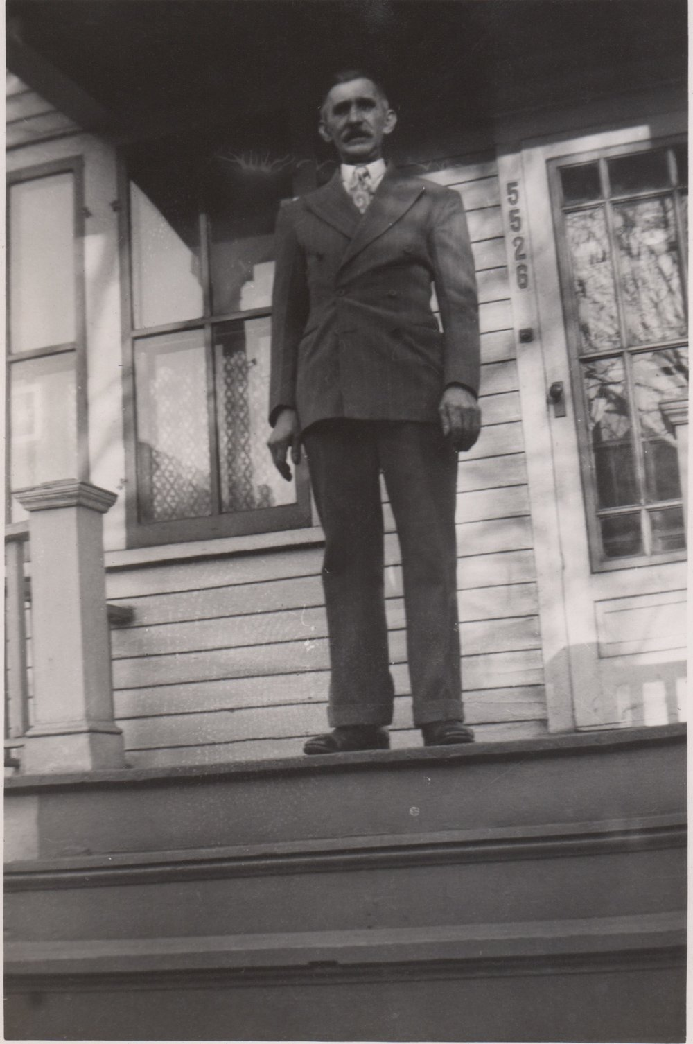 Adam at 5526 Dubois St. - late 1940s