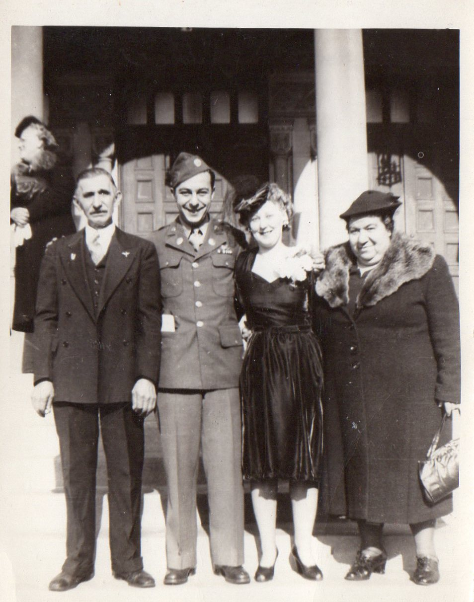 James and Claire (Pawlowski) Halvangis Wedding Day - October 28, 1944