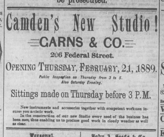 Courier Post (Camden, New Jersey) - February 23, 1889