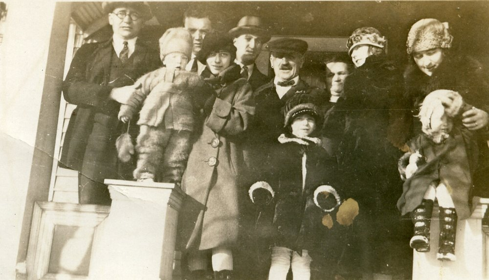 Peter Henry Ratz (center) and Family