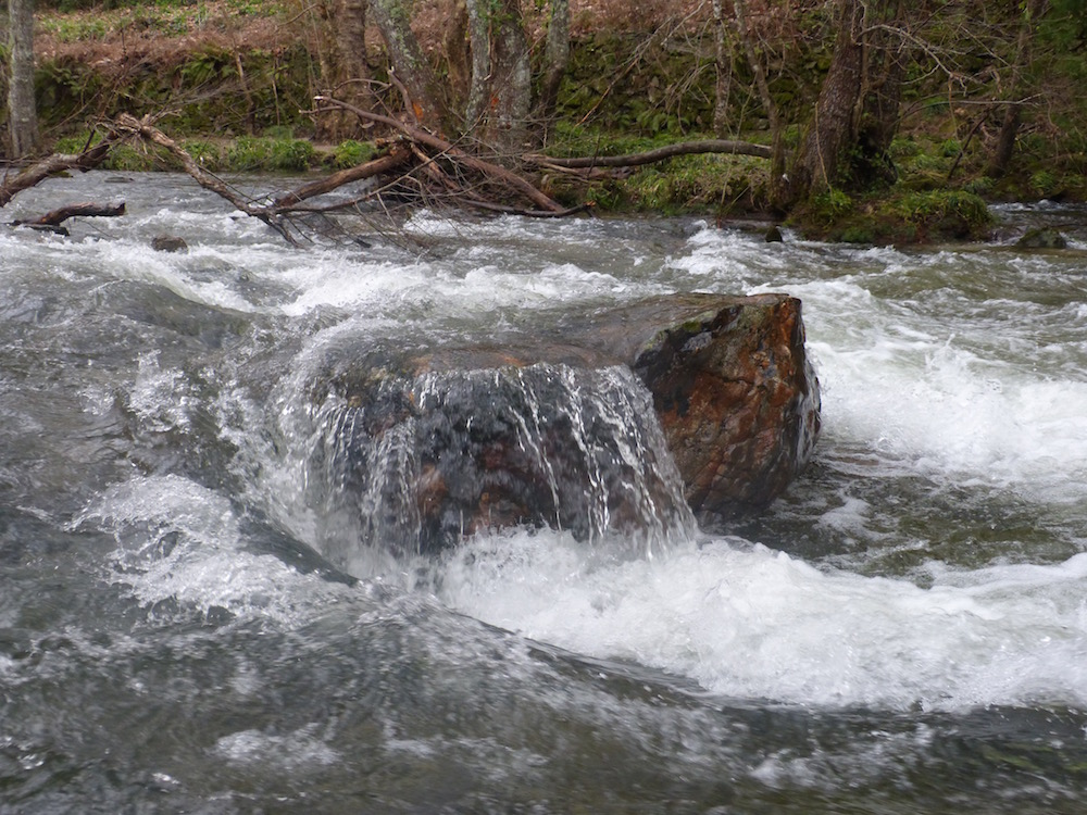 River Flow Over Rock