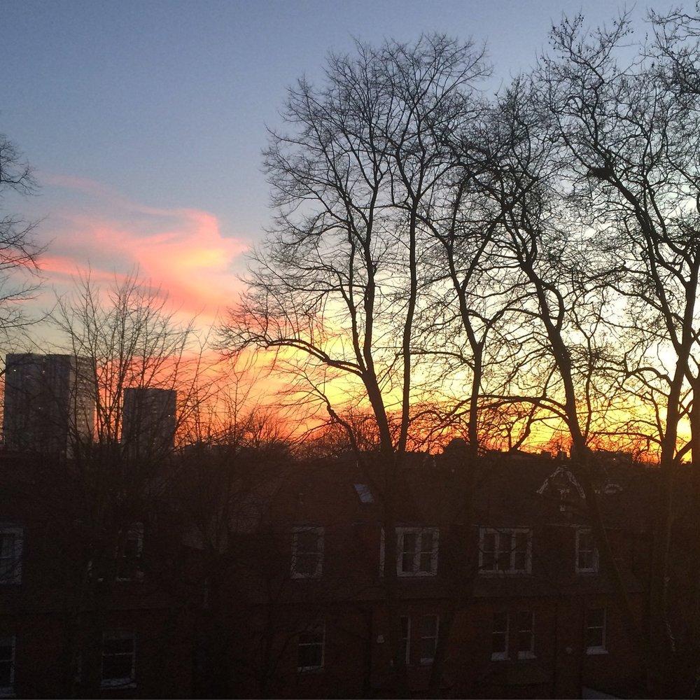 Winter Sunset Shpek