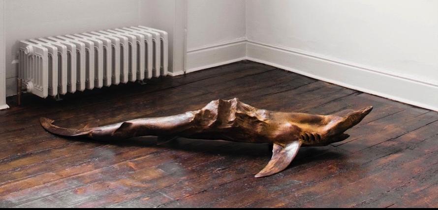 Dorothy Cross - Everest Shark , 2013, Bronze, 28 x 85 x 185 cm
